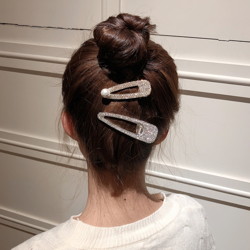New Popular Fashion Shining Rhinestone Hairpin Women Hair Clips Barrette Accessories For Women Girls Hairclip Hairgrip Headdress in Women 39 s Hair Accessories from Apparel Accessories