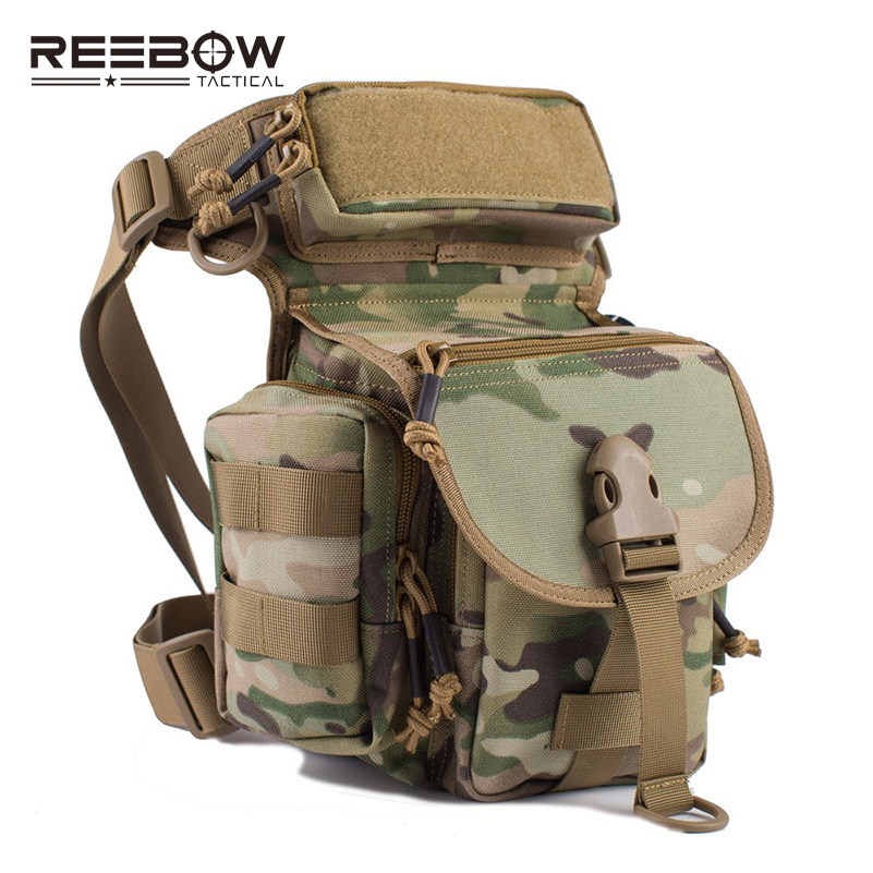 REEBOW TACTICAL Outdoor Tactical Huning Waist Drop Leg Bag Multi functional 1000D Nylon SWAT Sports Running