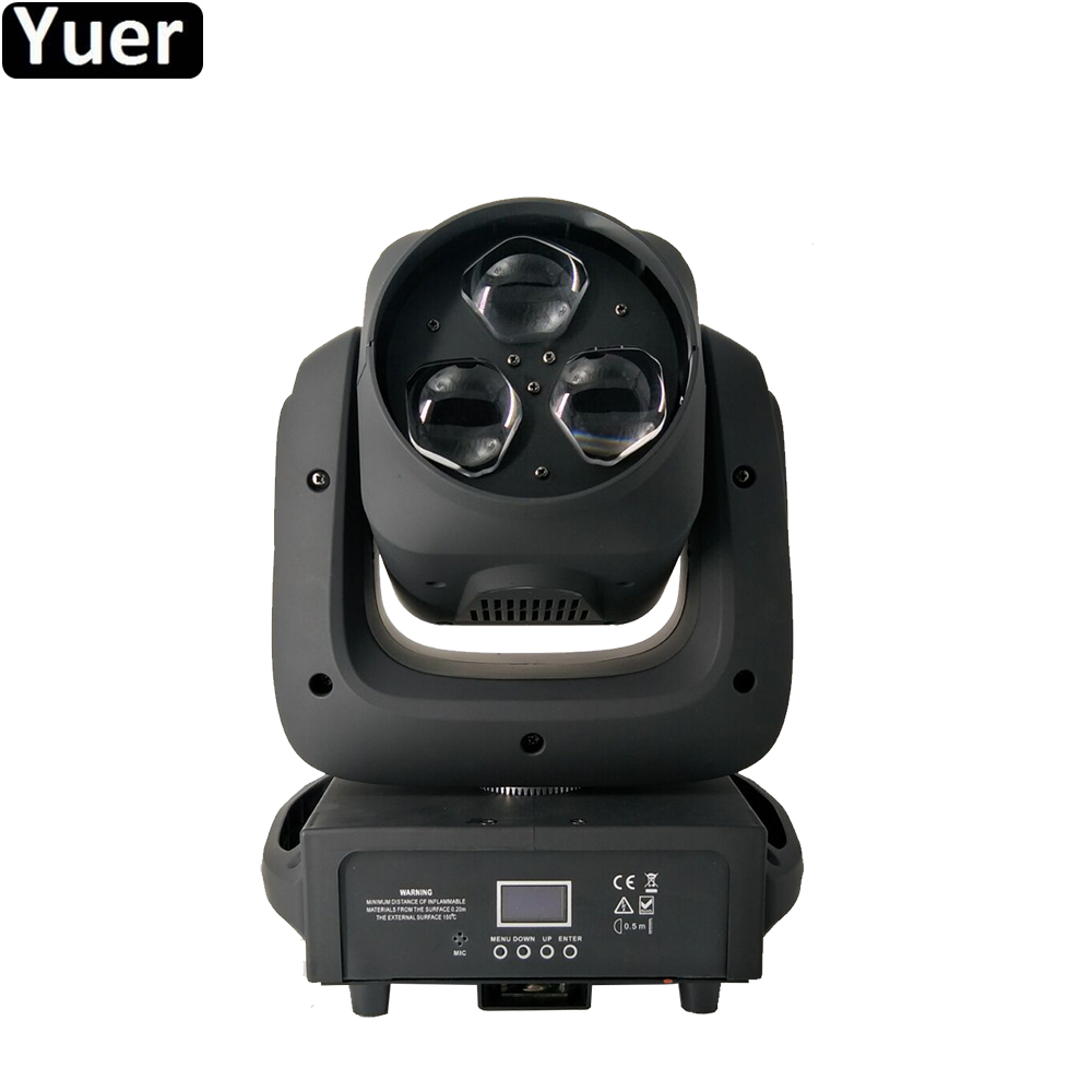 NEW Music Stage Lighting 3x40W Zoom Bee Bye LED Moving Head Light RGBW 4in1 Lights For Disco DJ Nightclub Wedding Party