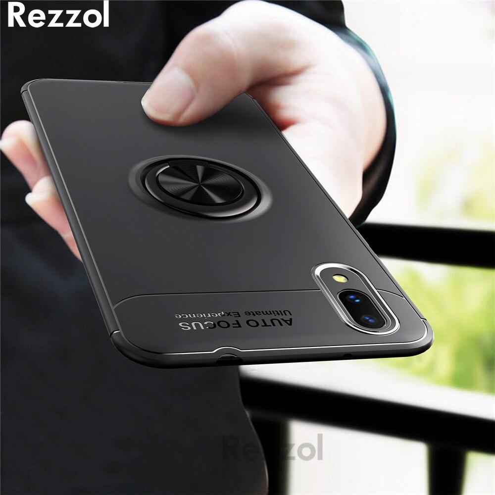Rezzol Pour VIVO V11 Pro Cas Support De Voiture Stand Magnétique Support TPU Cas de Couverture Pour VIVO V11 6.41 ''Avec écran D'empreintes Digitales Capa