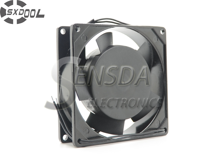 SXDOOL Original Axial fan 92*92*25mm 9025 9cm 90mm 2250RPM  AC 220V Dual  ball bearing industrial cooling fan 220v ac 280x280x80mm axial radiator fan 1341cfm 2400rpm ball bearing high speed