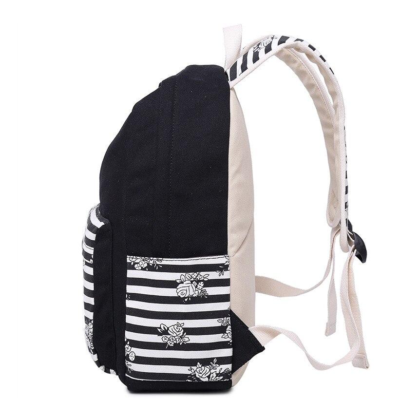 Школьные сумки для девочек женские пакет обратно детей в винтажном стиле с цветочным принтом холщовый мешок для девочек школьный женский ч...