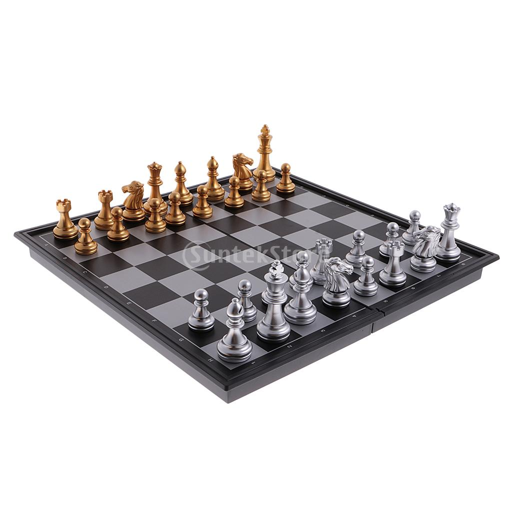 Us 3 21 22 Off Portable Chess Folding Magnetic Board Chess Pieces Game Set Diy Kids Intelligent Development Home Entertainment Kids Gift In Chess