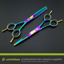 5.5″ rainbow shears 440C professional hair cutting shears japanese hairdressing scissors hairdresser hair scissors haircut set