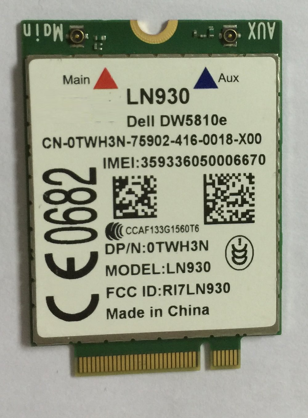 SSEA Telit LN930 NRR39 4G Wireless NGFF <font><b>Module</b></font> PN: 0TWH3N WWAN Card for Dell Wireless DW5810e Venue 11 Pro 4G/LTE/DC-HSPA+ WWAN image