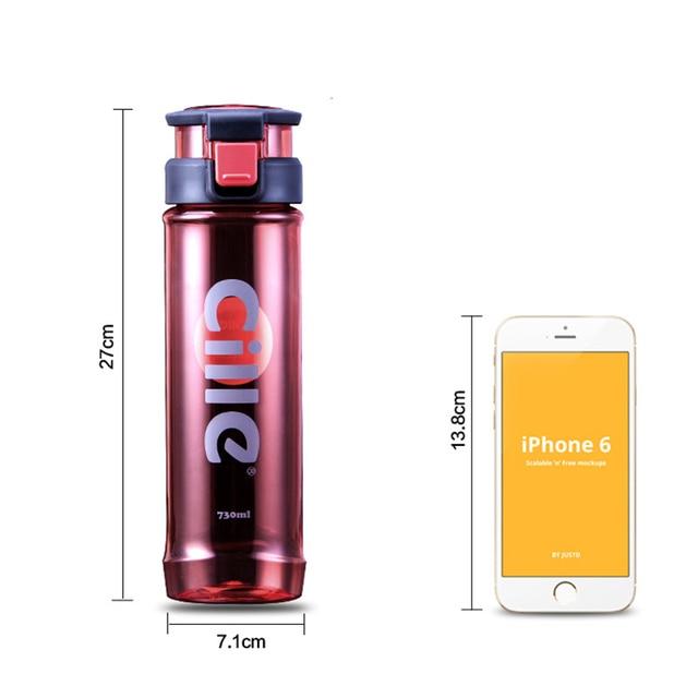 730 ML Spor Su Şişesi Plastik Limon suyu Su Şişesi Filtre Ile Sızdırmaz BPA Ücretsiz Demlik Bisiklet Açık Su Şişesi