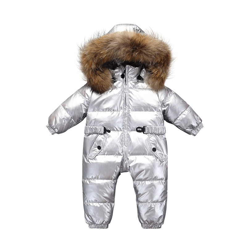2018 Baby Jumpsuits Romper Boys Girls Winter Overalls Baby Rompers Duck Down Jumpsuit Children Outerwear Kids Snowsuit Clothes цена