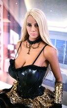 ЕС наличии 158 см Полный размеры для мужчин's Реалистичная сексуальная кукла реалистичные Европа блондинка зеленый средства ухода для век любовь кукла полный