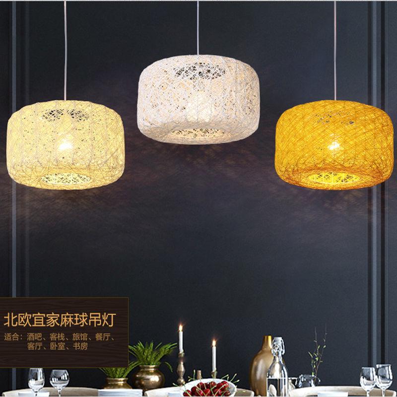 ФОТО Modern Retro Loft LED E27 Bamboo Rattan Canework Rustic Bedroom Reading Room Chandelier DropLight Lamp Pendant Home Decor Gift