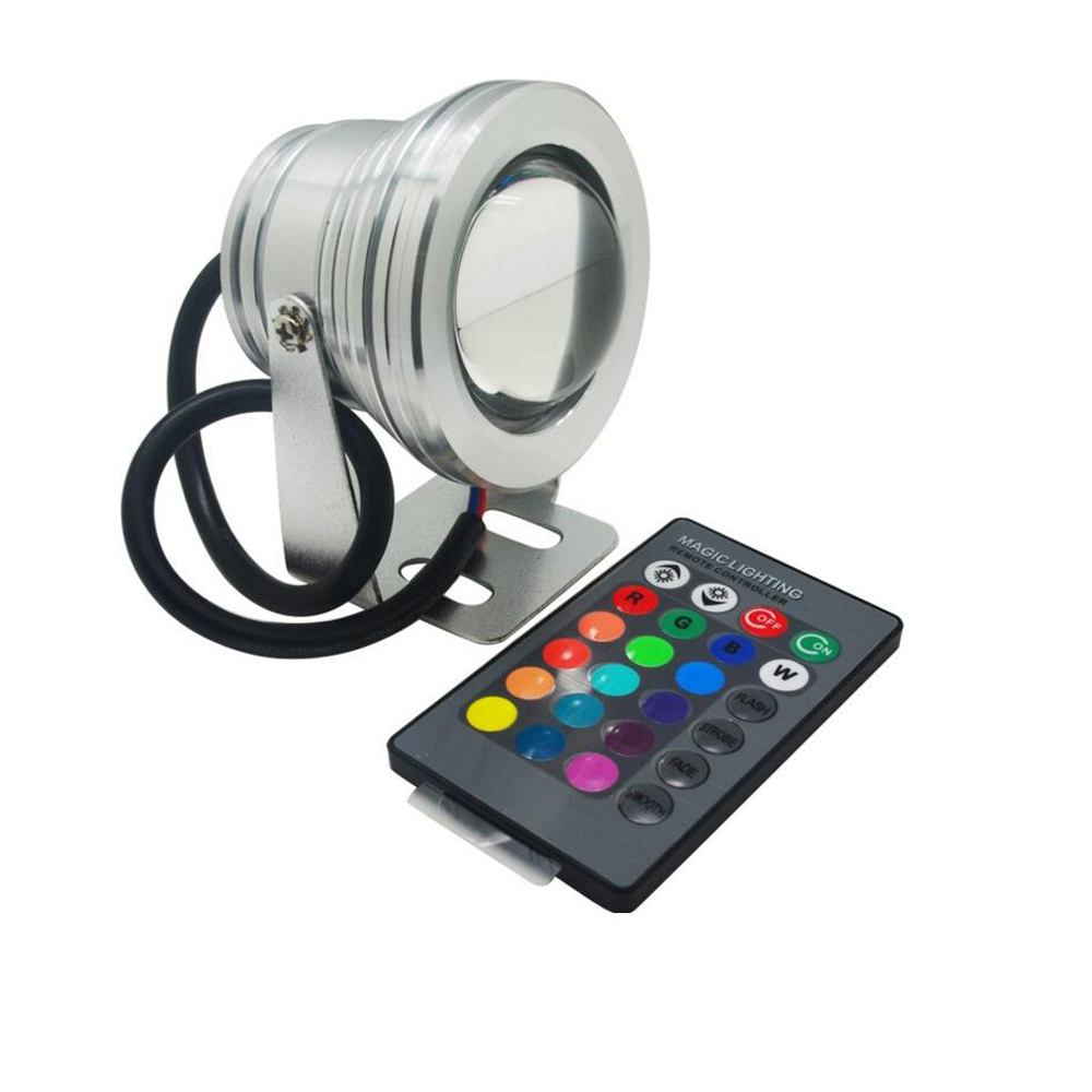Straightforward 16 Colors 10w 12v Rgb Led Underwater Fountain Light 1000lm Swimming Pool Pond Fish Tank Aquarium Led Light Lamp Ip68 Waterproof Relieving Heat And Thirst. Led Lamps Lights & Lighting