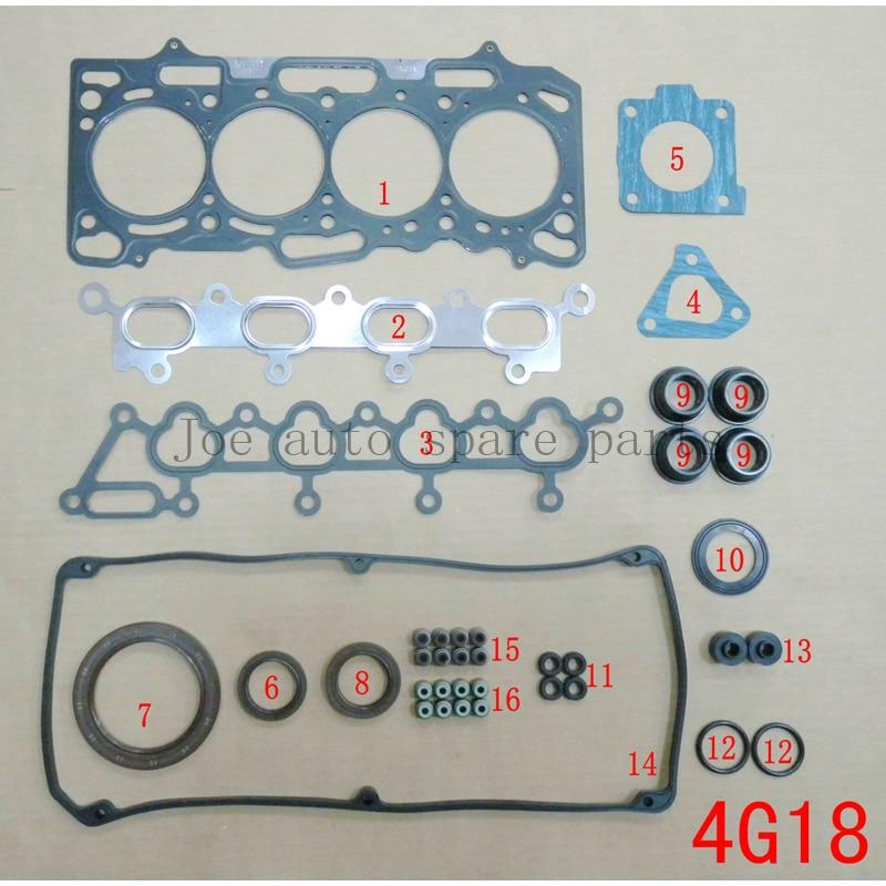 4G18 Engine Full Gasket Set kit for Mitsubishi LANCER LING kuda sparce star colt plus taiwan
