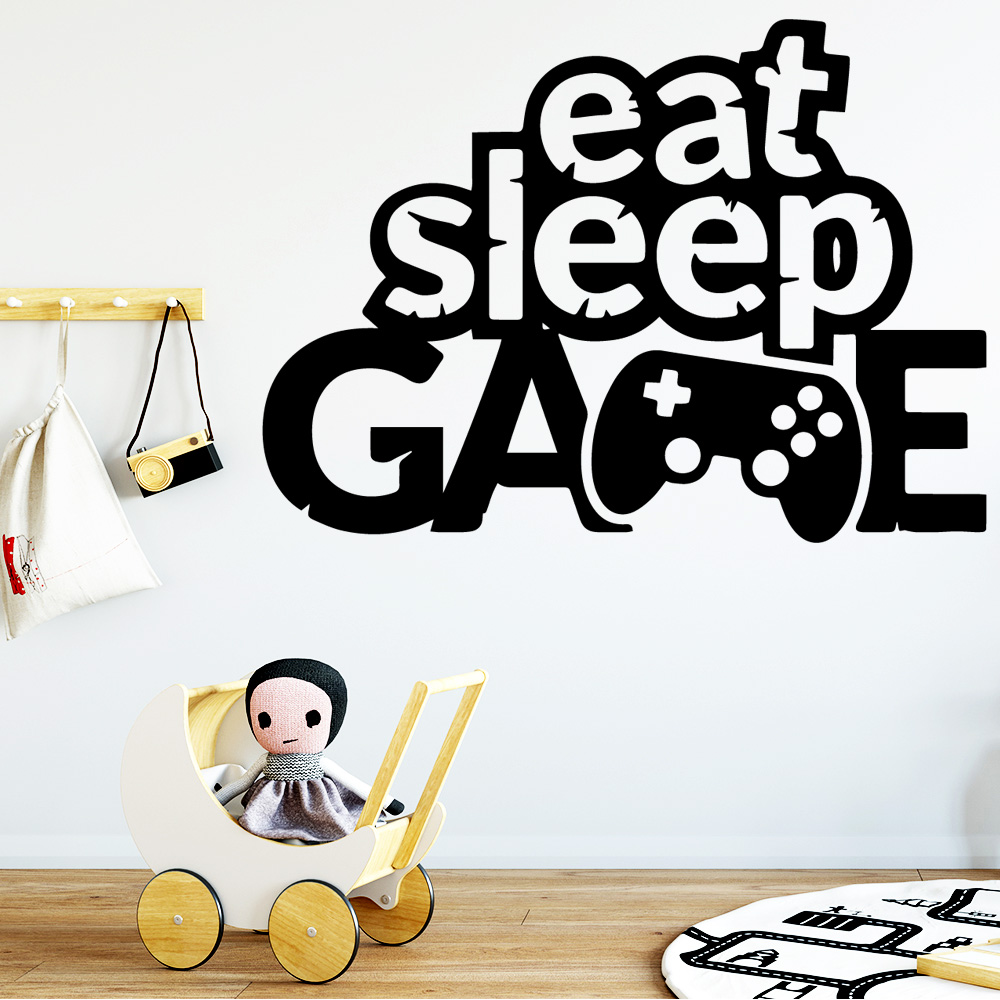 Fashionable Game Wall Sticker Pvc WallStickers Art WallPaper For Baby's Rooms Decor Bedroom Nursery Decoration vinilo decorativo
