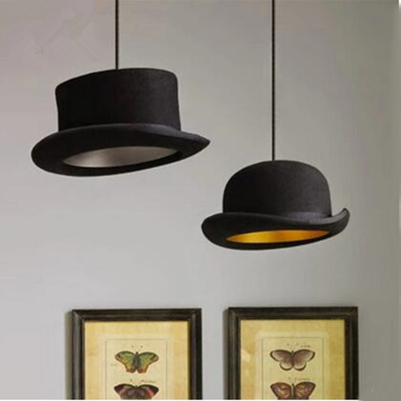 Modern Style indoor lighting pendant lights copy cloth Top Hat Dome cap LED restaurant shop bar light fixture