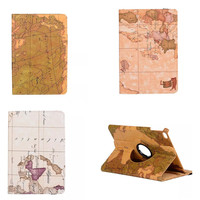 New  OST  Painted PU Leather Nautical maps Style Case With Stand For Apple iPad mini 4 mini4 Folio Protector Skin Cover capa