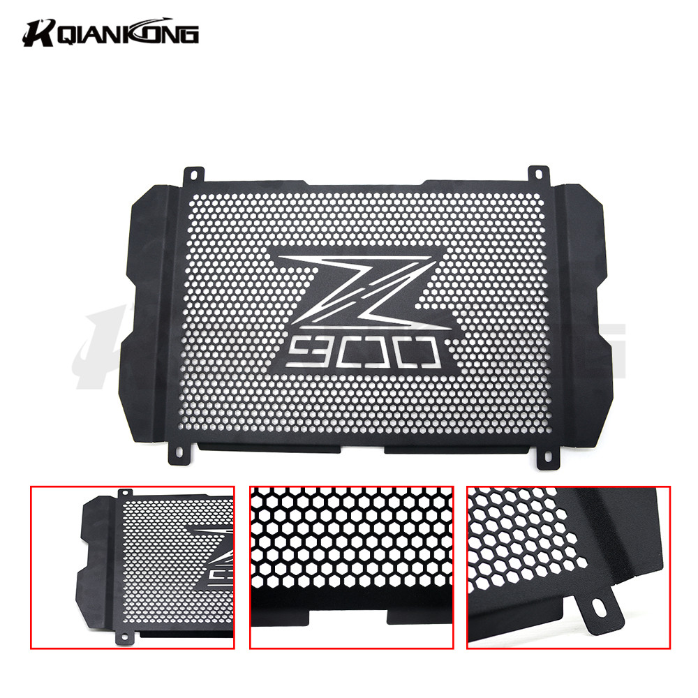 Free Shipping Black Stainless Steel Motorcycle Radiator Guard Radiator Grille Cover Fits For KAWASAKI Z900 z 900 2017 motorcycle radiator protective cover grill guard grille protector for kawasaki z1000sx ninja 1000 2011 2012 2013 2014 2015 2016