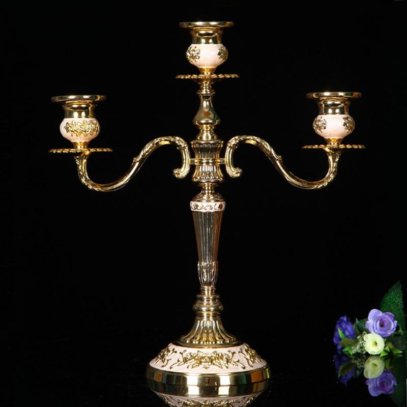 PEANDIM europski stil dobavljači Zlatni svijećnjak Candelabr Mali - Kućni dekor - Foto 2