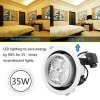 35W LED Light Spot Round Lamp White Recessed Ceiling Down spotlight Bulbs Warm White For Kitchen Living Bedroom luminaria lamp