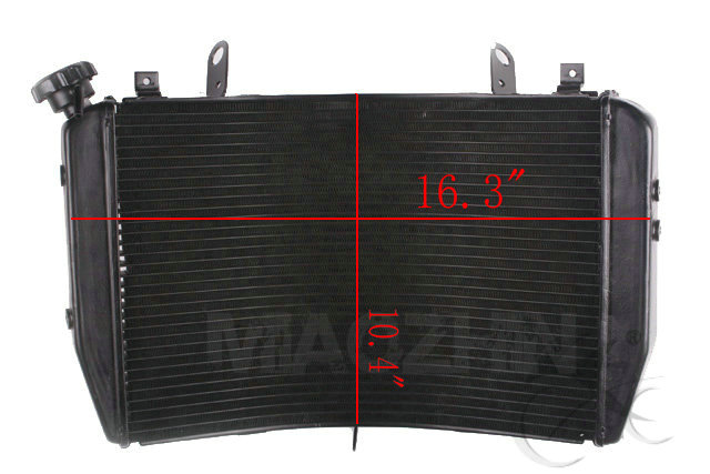 Aluminum Replacement Radiator Cooler For Yamaha YZF R1 YZF-R1 2007-2008 07-08 for yamaha yzf r1 2004 2005 2006 yzf r1 radiator grille protective grille cooler guard cover