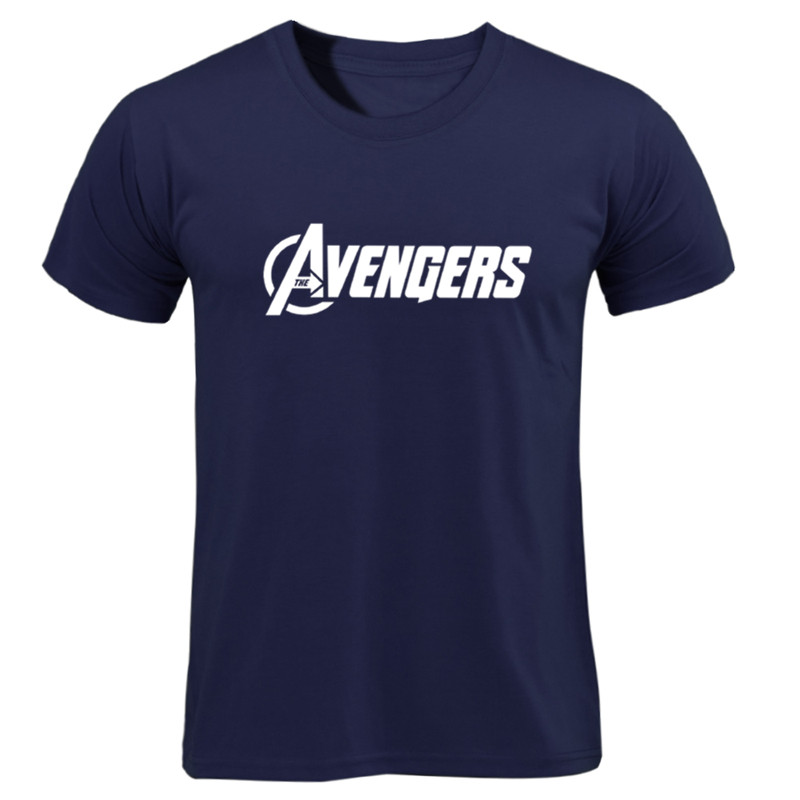 Men   T     Shirt   2019 Avengers Logo Tshirt Infinity Symbol   T  -  shirt   3D Metal Tops Captain Tees Fashion Superhero Clothes Venom