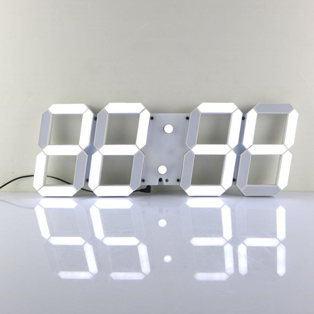 Grande horloge de mur LED numérique Design 3D moderne montres 24 ou 12 heures réveil avec télécommande