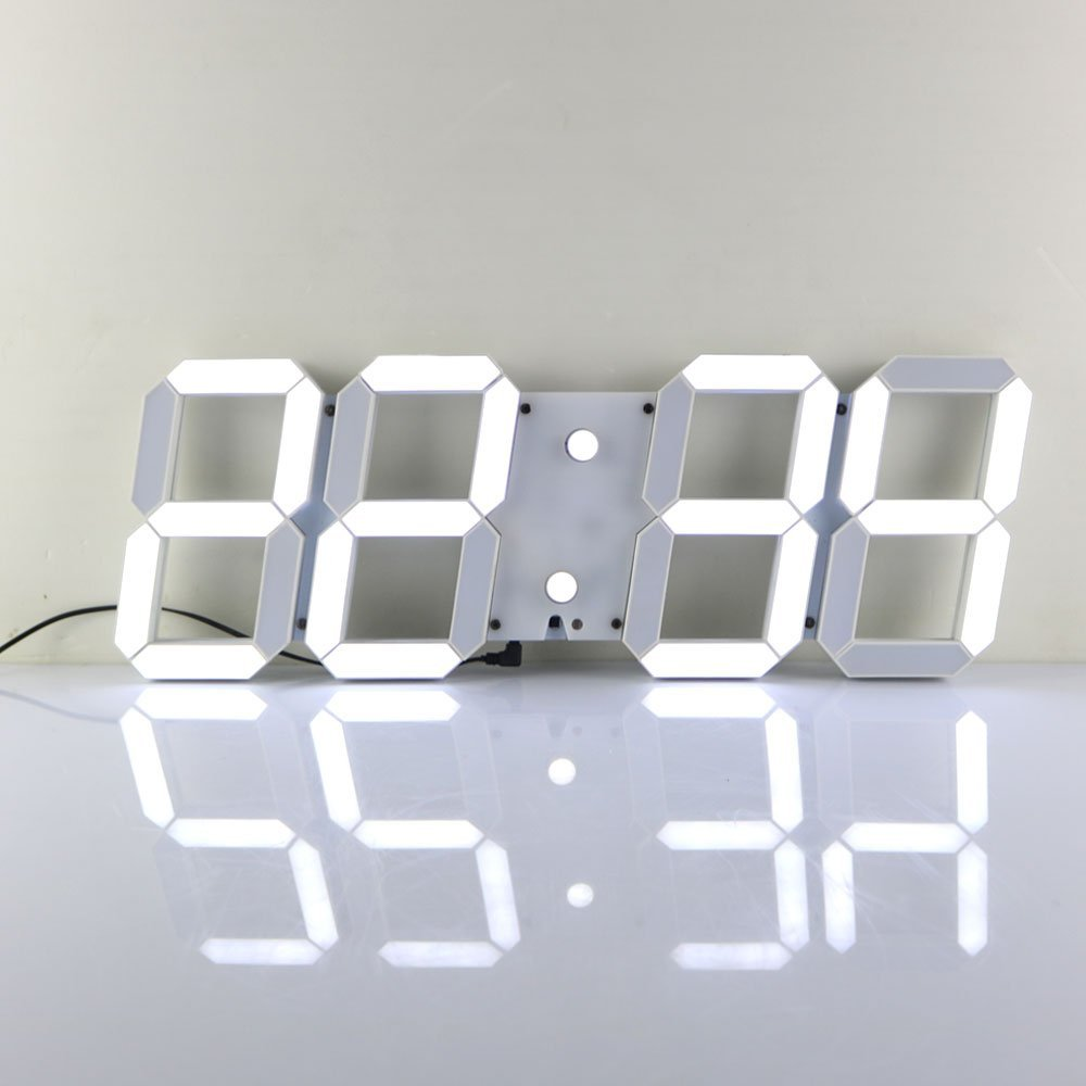 Large modern 3d design digital led wall clock watches 24 or 12 large modern 3d design digital led wall clock watches 24 or 12 hour display alarm clock with remote control in wall clocks from home garden on amipublicfo Images