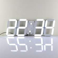 Large Modern 3D Design Digital Led Wall Clock Watches 24 or 12 Hour Display Alarm Clock