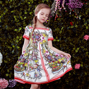 Image 5 - Beenira çocuk giysileri 2020 yeni yaz tarzı çocuk kısa kollu moda çiçek prenses elbiseler kızlar için tasarım giyim elbise