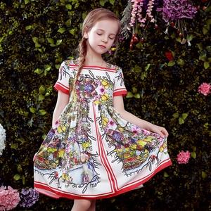 Image 5 - Beenira odzież dziecięca 2020 nowy letni styl dzieci z krótkim rękawem moda kwiat księżniczka sukienki projekt dla dziewczynek odzież Derss