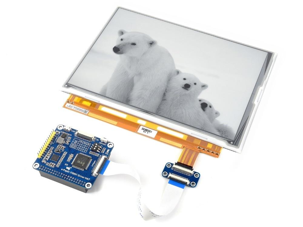 Waveshare 9.7 pouce e-ink chapeau d'affichage pour Raspberry Pi zéro/zéro W/zéro WH/2B/3B/3B + e-paper avec interface USB/SPI/I80/I2C