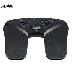 Moukey página sem fio turner pedal para tablets ipad app controles mãos página de leitura livre gira 10 m faixa bluetooth girando pedal