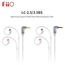 FiiO LC 3.5BS LC 2.5BS גבוהה טוהר נחושת מצופה כסף MMCX אוזניות כבל 45 cm עבור uBTR/BTR1/ BTR3/FH9/F9 פרו LC 3.5BS