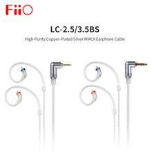 Fiio LC 3.5BS cabo de fone de ouvido de cobre, banhado à prata mmcx de alta pureza, 45cm para ubtr/btr1/btr3/fh9/f9 pro lc 3.5bs