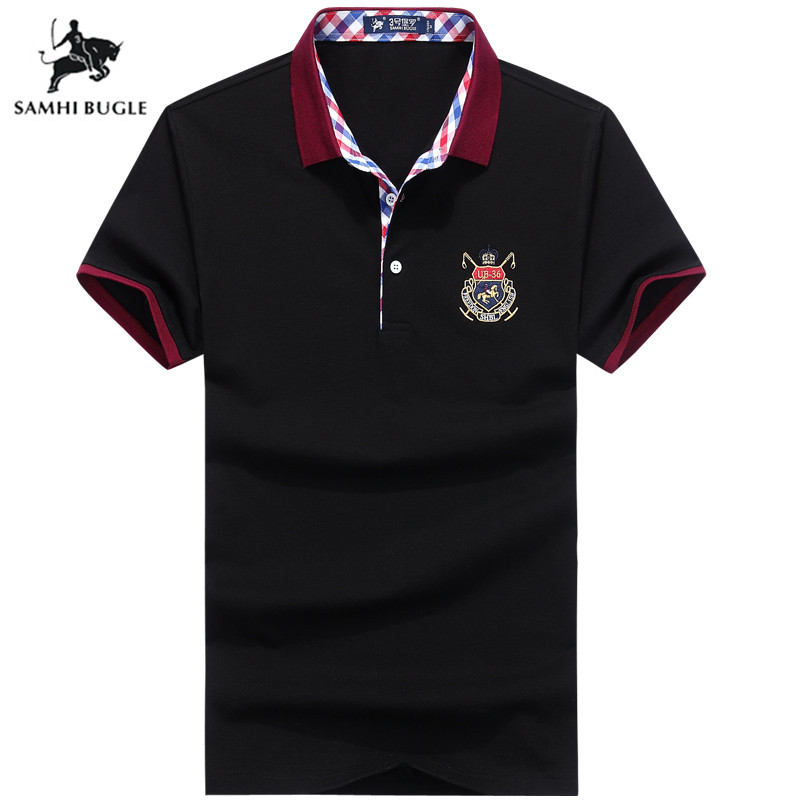 High Quality Tops&Tees   Polo   Shirt Men England Style Brands   Polo   Shirts 3D Embroidery Turn-down Collar Aeronautica Militare
