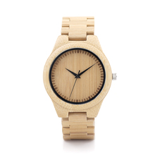 BOBO BIRD G28 Classic Design Natural Style Bamboo Watch Japan Moven t Quartz Watches with Bamboo