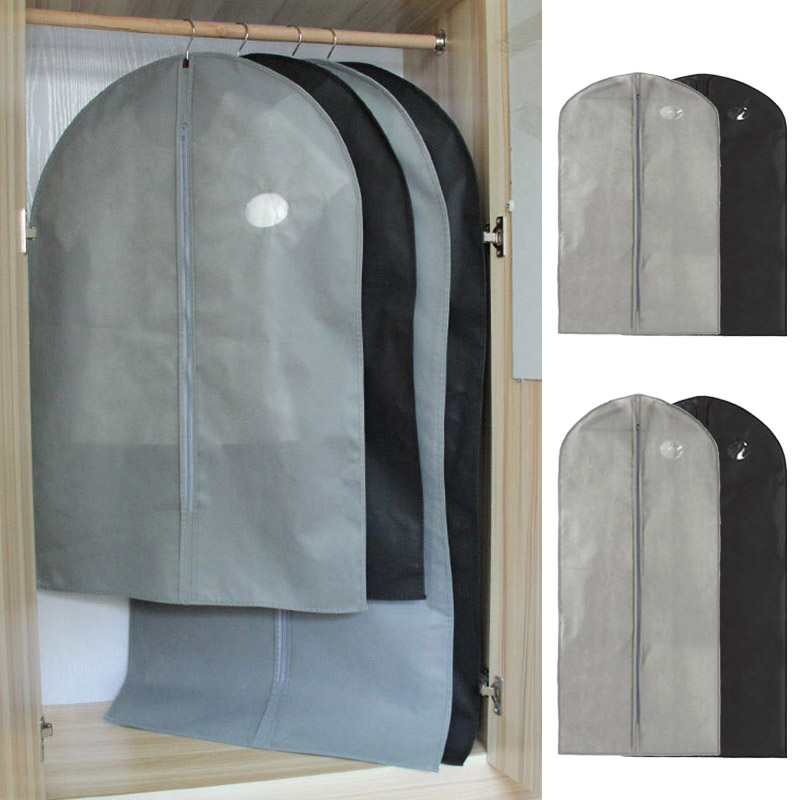 Dust-proof Dress Clothes Cover Suit Dress Garment Bag Storage Protector Breathable Useful Hanging-type Cover  Garment