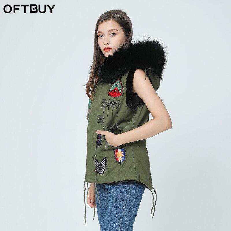 OFTBUY 2019 новый зимний Высокое качество природный натуральный мех пальто для женщин veste femme натуральным мехом майка feminino chaquetas mujer