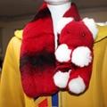 Real Rex Fur Women Scarf Winter Genuine Leather Cap Warm Soft Neck Fur Collar Scarves Fashion Accessories Ladies Rex Fur Scarf