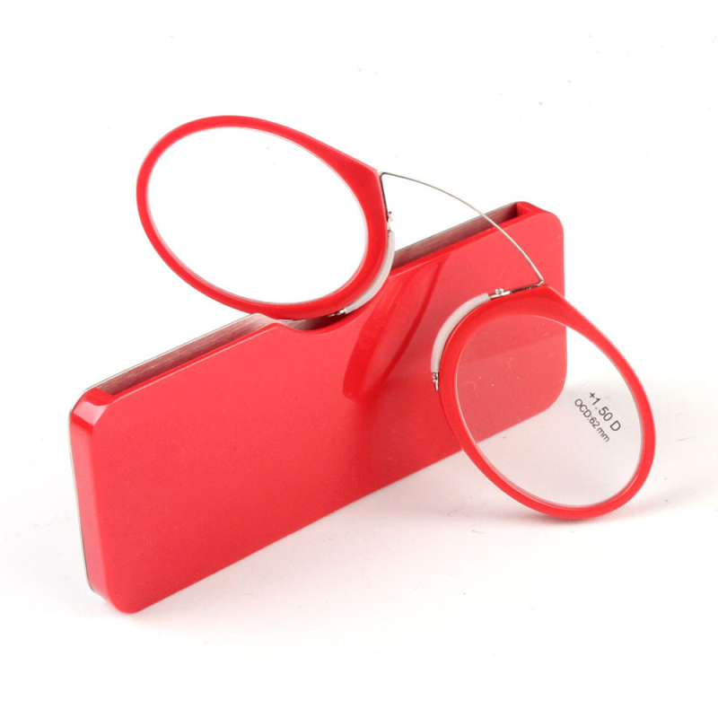 2017 Portable Nose Clip Reading Glasses Wallet Readers