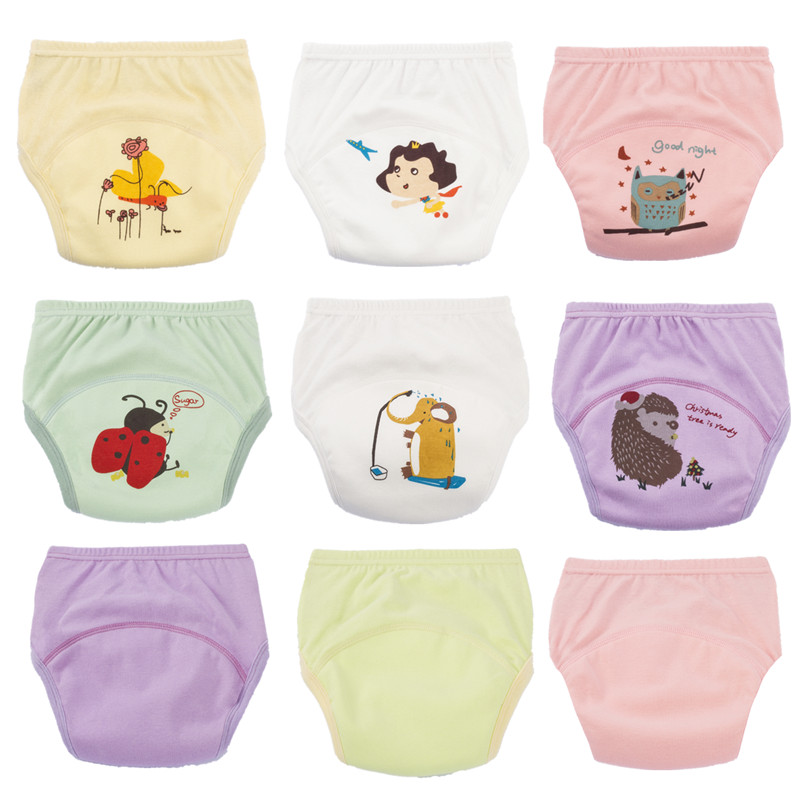 5Layers 6 To 22kg Baby Girls Washable Diapers Tollder Children Cloth Diaper Nappies Reusable Cotton Training Panties Shorts