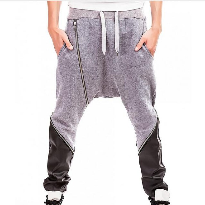 New Arrival Mens Pants Martial Arts Zipper Design Kung Fu Pants For Male Hakama Kendo Wu Shu Sports Trousers For Men Deep Gray
