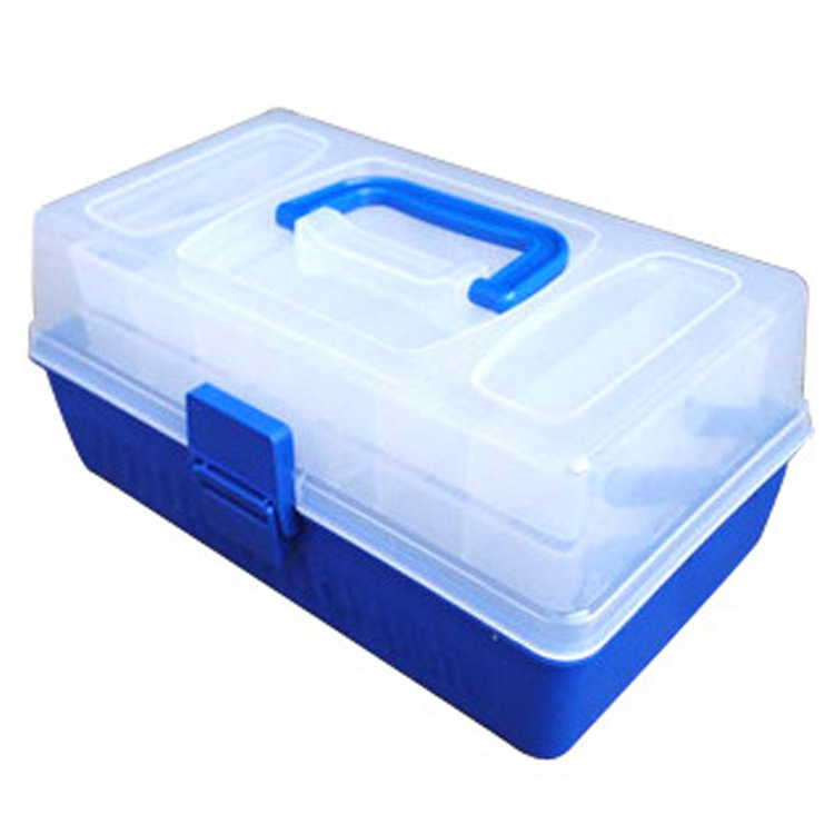 CALOFE Fishing Tackle Box Plastic Waterproof Eco-Friendly Fishing Accessories Tools Storage Box Compartments 1PC 29.4*18.7*15cm