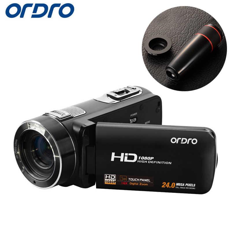 Ordro HDV-Z8 Full HD 1080P Reflex Digital Photo Cameras 16X Video Recorder Mini Camcorders w/ 3.0 inch LCD Rotation Screen