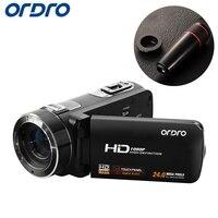 Ordro hdv z8 Full HD 1080 P рефлекс Цифровые фотоаппараты 16x видео Регистраторы Мини видеокамеры w/3.0 дюймов ЖК дисплей вращения экран