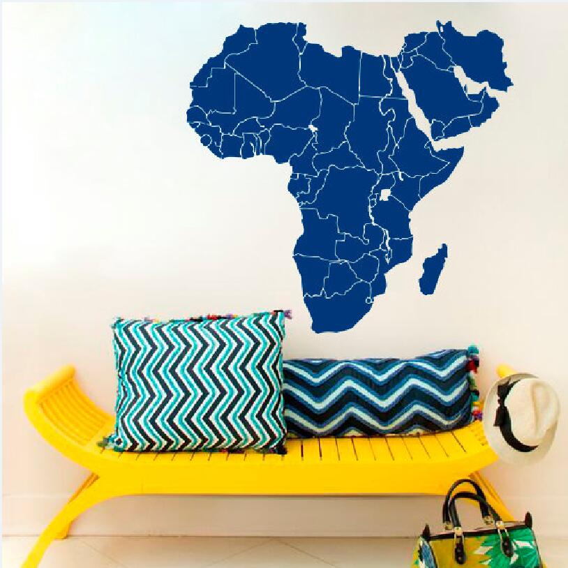 Wall Decal Vinyl Sticker Africa World Map of Africa Countries Home Decor Wall Sticker Office Children 39 s Room Murals W 51 in Wall Stickers from Home amp Garden
