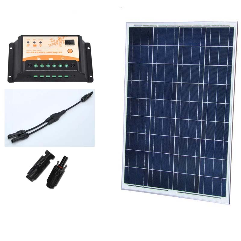 100W Watts 12V Polycrystalline Solar Panel Off Grid Kit for RV Boat Solar Power System Factory Price