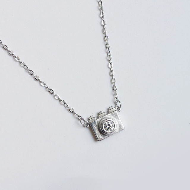Hot sale 925 sterling silver pendants necklaces mini small camera hot sale 925 sterling silver pendants necklaces mini small camera necklaces fit women party wedding necklaces junglespirit Gallery
