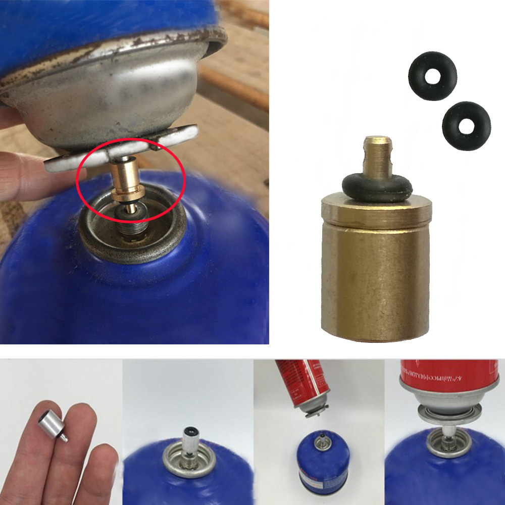 Picnic Stove Propane Converter Gas Burner Butane Filling Valve Connector