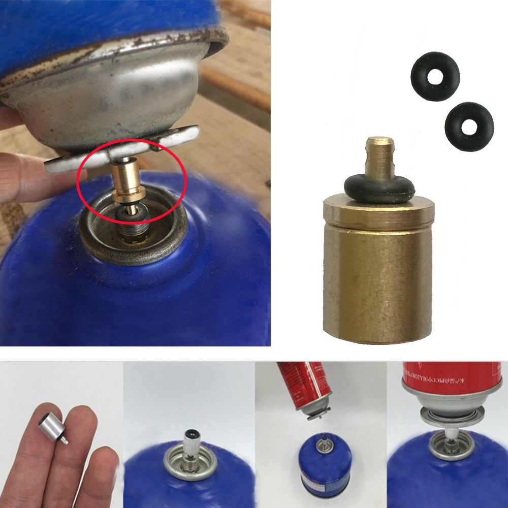 Outdoor Camping Gas Refill Adapter Valve Gas Stove Tank Canister Connector