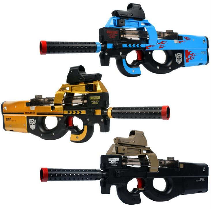 P90 Électrique Jouet Pistolet Paintball D'assaut Snipe Arme de L'eau Douce Bullet Pistolet avec bulletsToys Pour Garçon CS Live Armes jouet pistolet