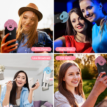 Coolreall LED Selfie Ring Light Portable Mobile Phone Clip Lamp Supplementary Lighting In The In The Darkness For iPhone Samsung
